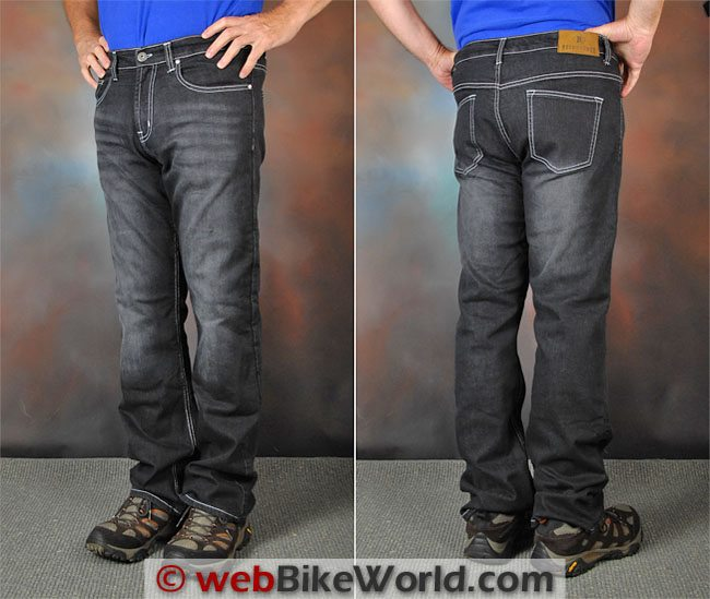 Resurgence Gear Black Bird PEKEV Jeans Front Rear Views