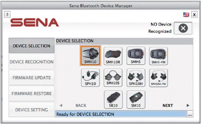 Sena Firmware Update Manager