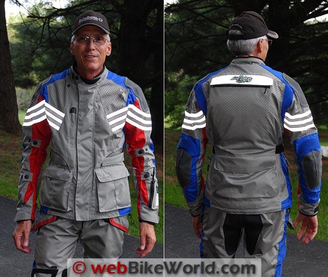 Teiz Motorsports Sahara Jacket Reflectivity