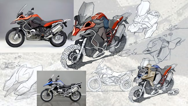 2014 BMW R1200GS Adventure Drawings