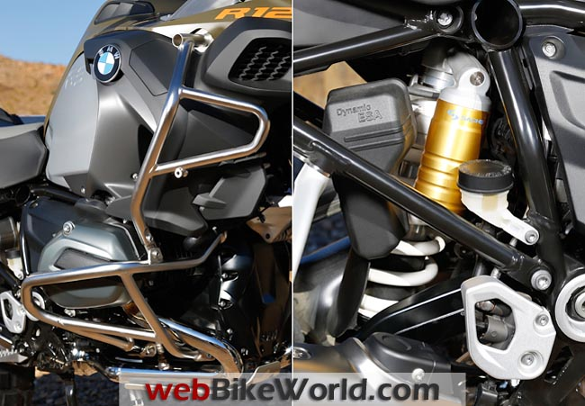 2014 BMW R1200GS Adventure Engine Guards and Shock Absorber