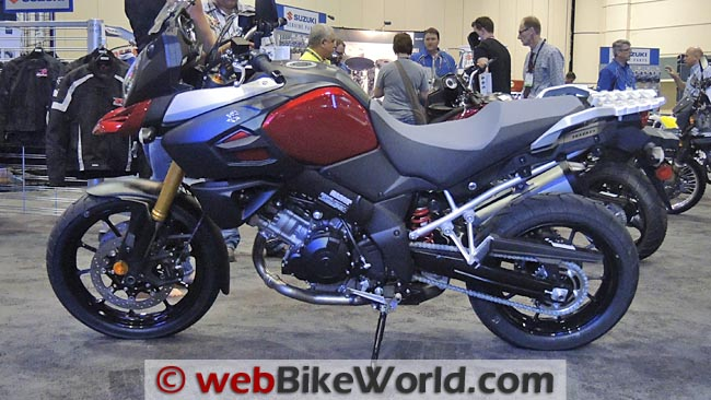 2014 Suzuki V-Strom ABS Left Side Red