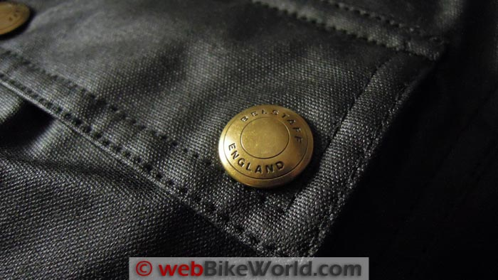 Belstaff Tourist Trophy Jacket Button Close-up
