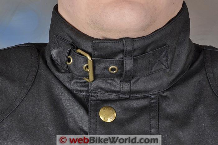 Belstaff Tourist Trophy Jacket Collar Close-up