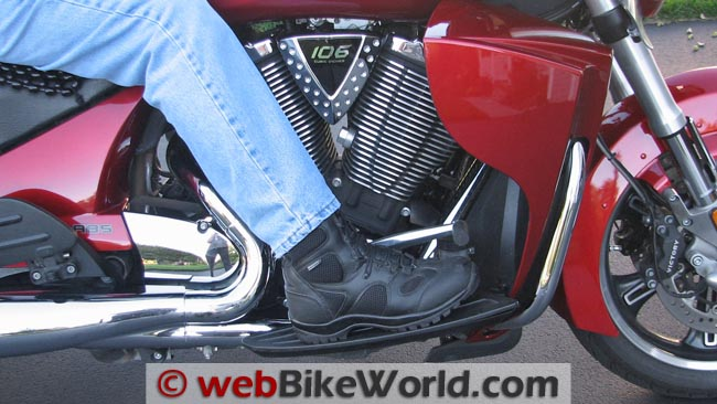 Blackhawk Light Assault Boots on Motorcycle