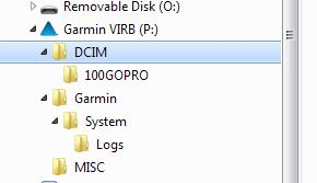Garmin VIRB File System