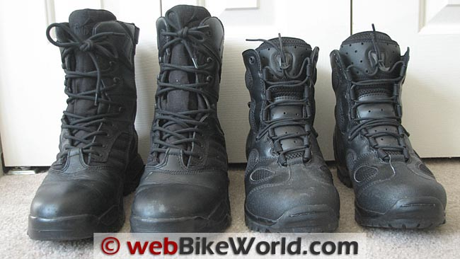Ridge Outdoors 9000 Ultimate Zipper Boots vs. Blackhawk Warrior Wear Light Assault Boots