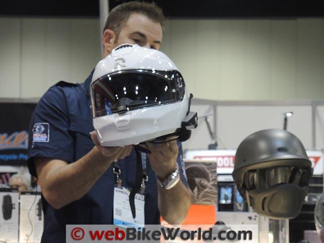 Sena 20S on Helmet