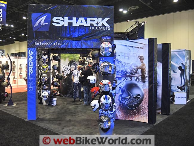 Shark Helmets Booth