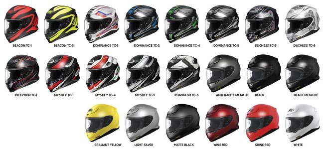 Shoei RF-1200 Helmet Colors
