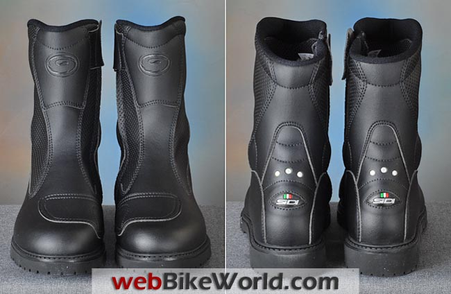 Sidi Traffic Air Boots Front Rear Views