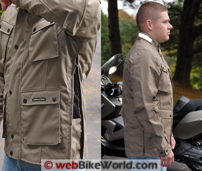 Tucano Urbano Trip Jacket Side Ventilation