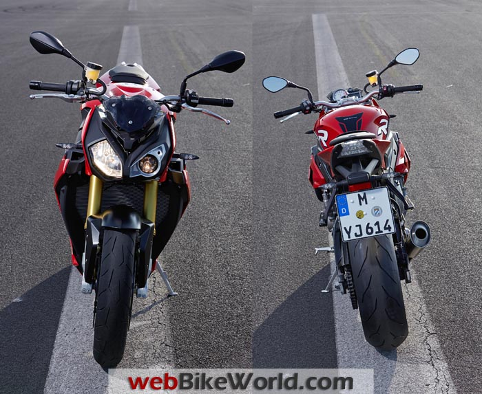 BMW S 1000 R Front Rear Views