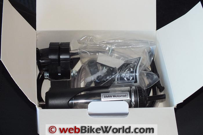 BMW Scottoiler Kit Contents in Box