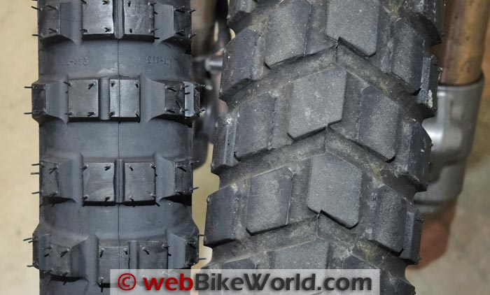 Michelin T63 Front vs. Bridgestone BT41 Front