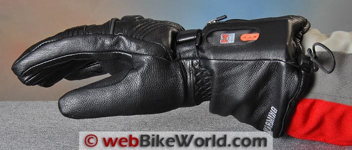 Mobile Warming LTD Max Heated Gloves Battery Side View