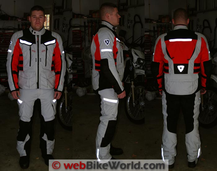 REV'IT! Sand 2 Jacket and Pants Reflectivity