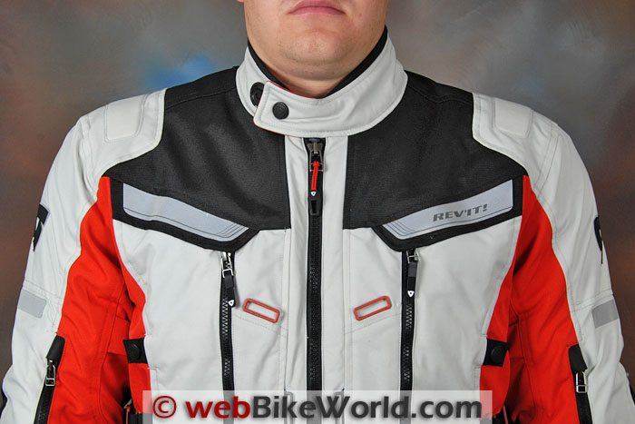 REV'IT! Sand 2 Jacket Neck and Upper Chest