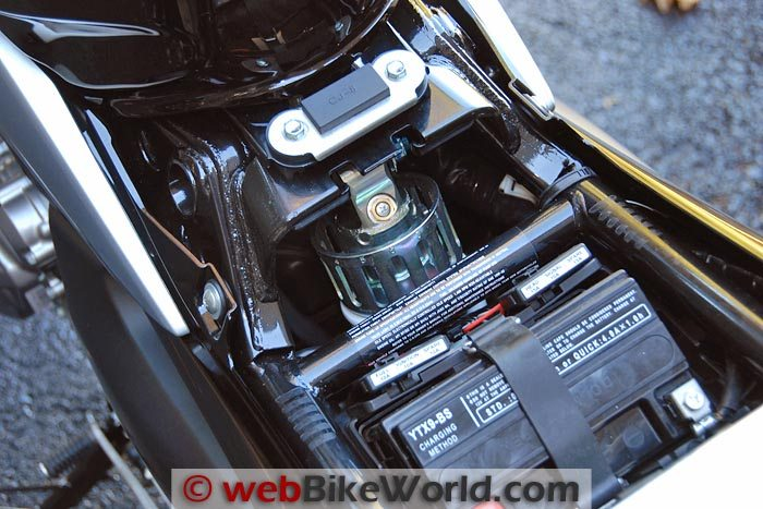 Suzuki GW250 Battery and Adjustable Rear Shock