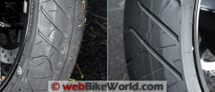 Suzuki GW250 Front and Rear Tires