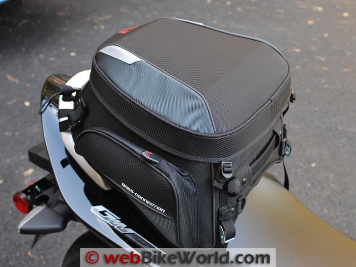 Bags-Connection EVO Rear Bag on Suzuki GW250