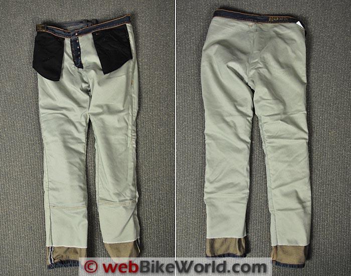 Rokker Jeans Kevlar Lining Front Rear