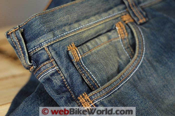 Rokker Original Jeans Stitching Close-up