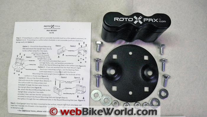 Rotopax Fuel Pack Mounting Hardware