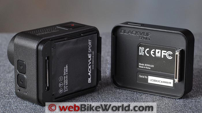 BlackVue Sport SC500 Battery and LCD