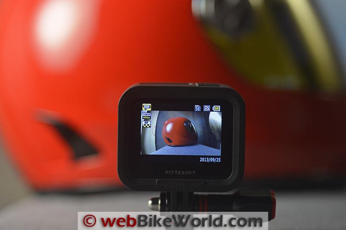BlackVue Sport SC500 Live View Screen