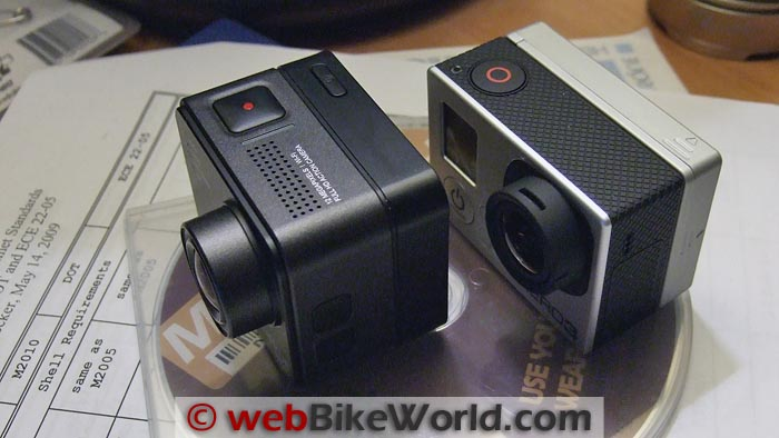 BlackVue Sport SC500 vs. GoPro Hero3 Size Comparison