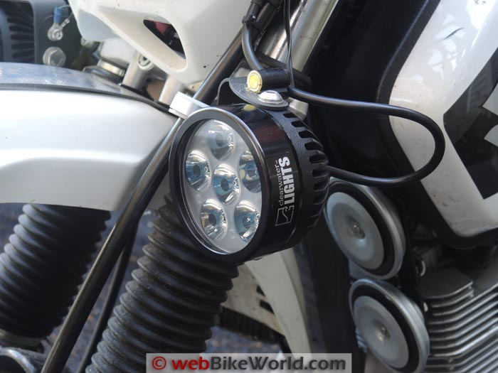 Clearwater Erica Light on Suzuki DR650