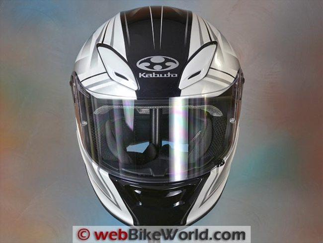 Kabuto Aeroblade III Stellato Street Full Face Motorcycle Helmet Tricolor
