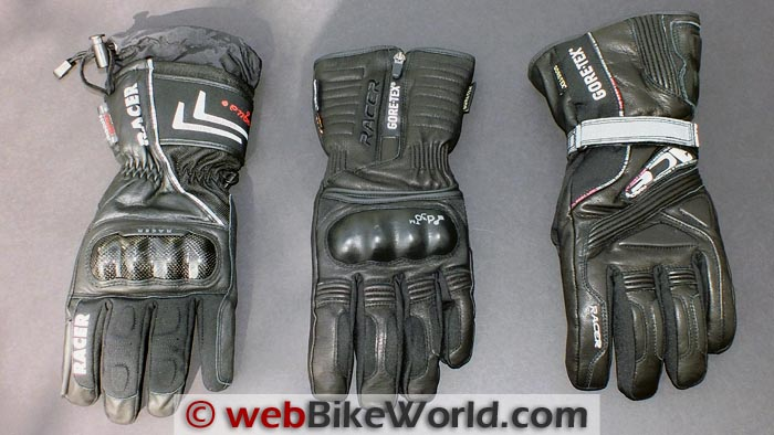 Racer Carbon Gloves, Racer Elevate Gloves and Racer Advance Gloves