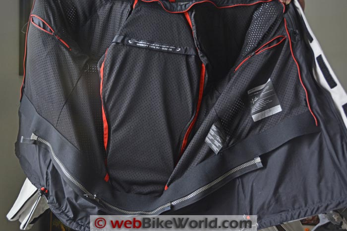 Rev'it Seesoft Back Protector in Poseidon Jacket
