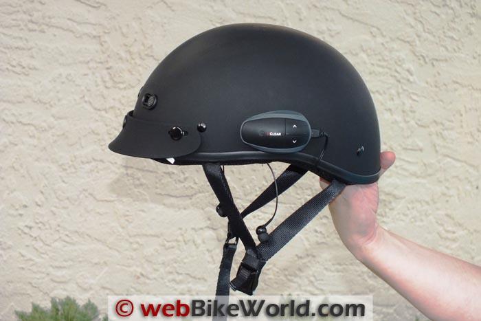 UClear Universal Earbuds in Half Helmet