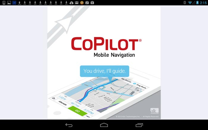 Copilot app screen