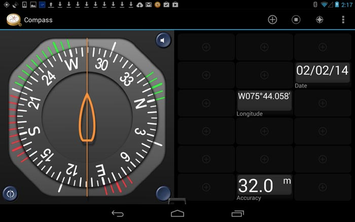 GPS Essentials App in Compass Mode
