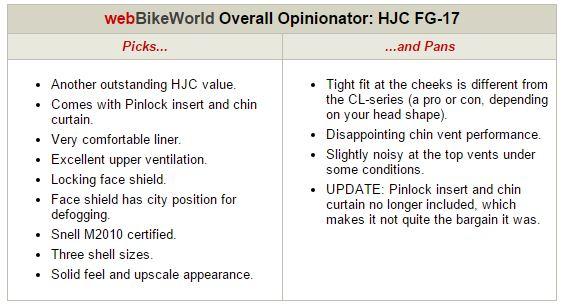 HJC FG-17 Opinionator