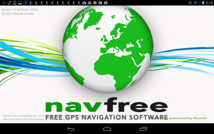 NavFree App Screen