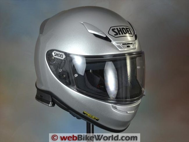 Cardo SHO-1 Intercom on Shoei RF-1200 Helmet