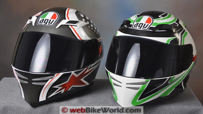 AGV Skyline vs. AGV Horizon Front View