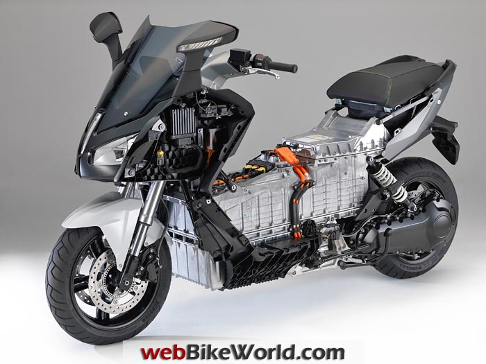 BMW C Evolution Scooter Battery and Drivetrain