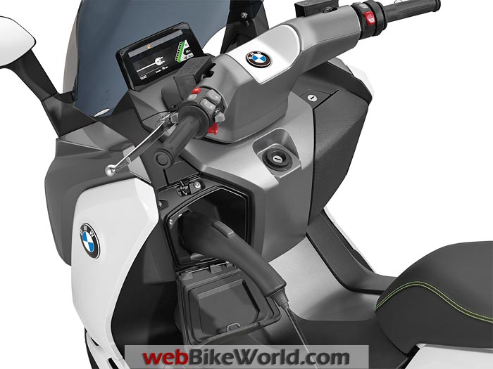 BMW C Evolution Scooter Charging