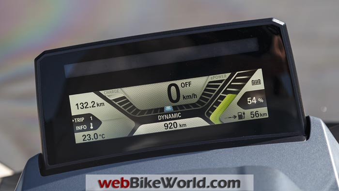 BMW C Evolution Scooter Instruments Close-up
