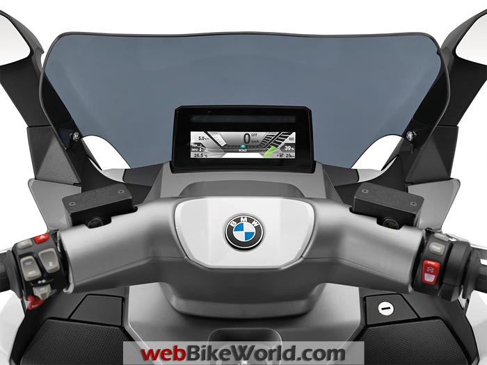 BMW C Evolution Scooter Instruments