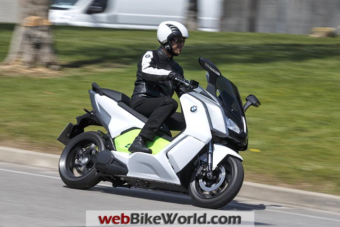 BMW C Evolution Scooter on the Road