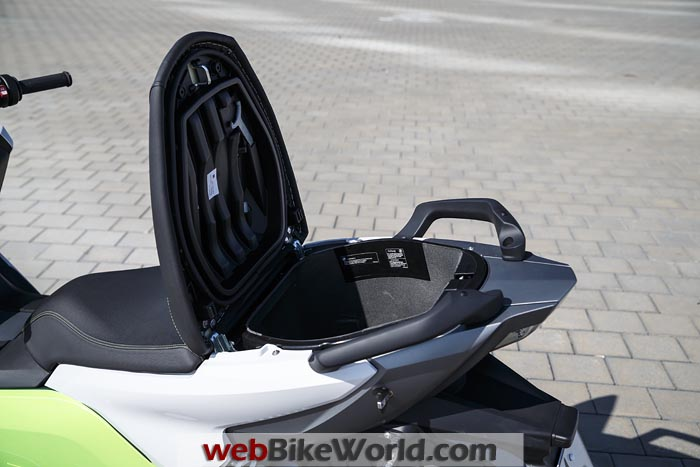 BMW C Evolution Scooter Seat Storage