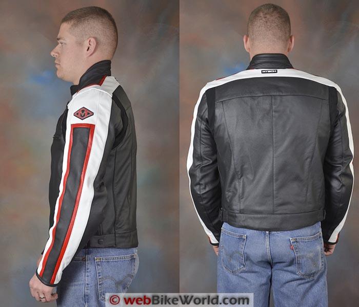 M-Tech T-Sport Leather Jacket Side Rear Views