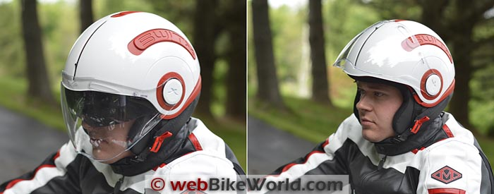 Nexx SWITX SX.10 Helmet on Rider Close-up